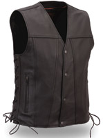 First Manufacturing Co. Men's Single Back Panel Leather Vest