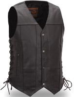 First Manufacturing Co. Men's 10 Pocket Leather Vest