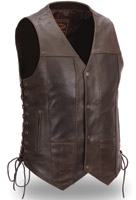 First Manufacturing Co. Men's 10 Pocket Leather Vest