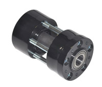 RevTech Black 25mm Axle Front Wheel Hub
