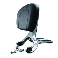 Kuryakyn Chrome Multipurpose Driver and Passenger Backrest