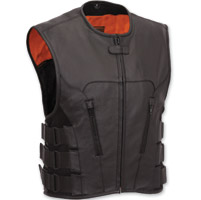 First Manufacturing Co. Men's SWAT Team Style Leather Vest