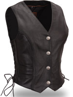 First Manufacturing Co. Women's Braided Buffalo Nickel Vest