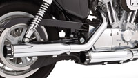 Freedom Performance Exhaust 3-1/4″ Signature Slip-Ons Chrome with Black End Caps