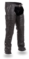 First Manufacturing Co. Unisex Double Deep Pocket Thermal Leather Chaps
