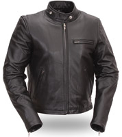 FMC Women's Leather Scooter Jacket