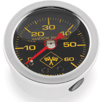 Biker's Choice 0-60 PSI Oil Pressure Gauge Silver/Black