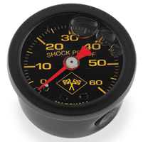 0-60 PSI Oil Pressure Gauge Black/Black