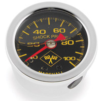 Biker's Choice 0-100 PSI Oil Pressure Gauge Silver/Black
