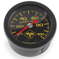 Biker's Choice 0-100 PSI Oil Pressure Gauge Black/Black