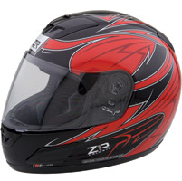 Z1R Vengeance Viper Black and Red Full Face Helmet
