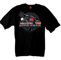 Hot Leathers Ride Free POW-MIA T-shirt