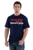 Add On Save Gas Ride A Motorcycle T-shirt