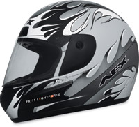 AFX FX-11 Lightforce Silver Full Face Helmet