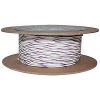 NAMZ Custom Cycle White/Violet 18-Gauge Wire