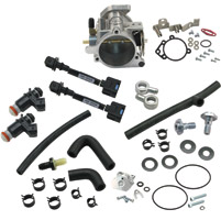 S&S Cycle 58mm Single Bore EFI Throttle Body/Fuel Rail Kit