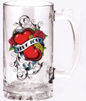 True Love Glass Beer Mug
