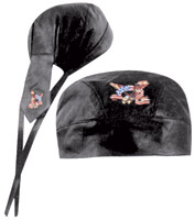 Eagle and Flag Leather Headwrap
