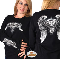 Hot Leathers Asphalt Angel T-shirt