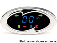 Dakota Digital 5000 Series Wave Black Gauge