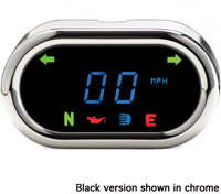 Dakota Digital MCL-5000 Series Black Classic Oval Gauge