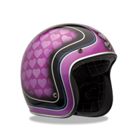 Bell Custom 500 Heart Breaker Pink Open Face Helmet