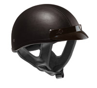 VEGA XTS Leather Black Half Helmet