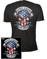 Lethal Threat Live Free or Die T-shirt