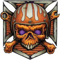 Lethal Threat Helmet Skull Decal