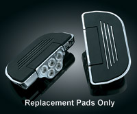 Replacement Ribbed Rubber Pads for Kuryakyn Premium Floorboards