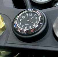 Riders Passion Stick-On Satin Black Mount with Black Clock