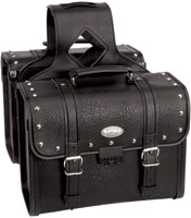 River Road Rigid Zip-Off Box Studded Saddlebags with Security Lock