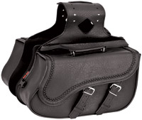 River Road Quantum Series Slant Medium Braided Saddlebags