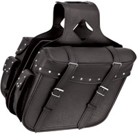 River Road Momentum Series Slant Large Studded Saddlebags