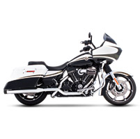 Rinehart Racing Xtreme True Duals Exhaust 4″ Mufflers Chrome with Black End Caps