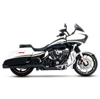 Rinehart Racing Xtreme True Duals Exhaust 4″ Mufflers Black with Black End Caps