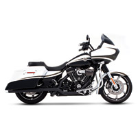 Rinehart Racing Xtreme True Duals Exhaust 3.5″ Mufflers Black with Chrome End Caps