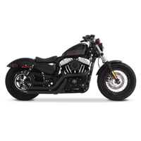 Rinehart Racing Cross Backs 2-into-2 Flush Exhaust Black with Black End Caps