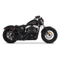 Rinehart Racing Cross Backs 2-into-2 Flush Exhaust Black with Chrome End Caps