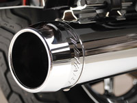 Rinehart Racing 3-1/2″ Slip-On Mufflers Chrome with Chrome End Caps