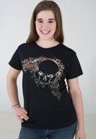 J&P Cycles® Hidden Skull Ladies T-shirt
