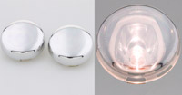 Motor City Cycle Pop-On Clear Chromed Lenses for Front or Rear