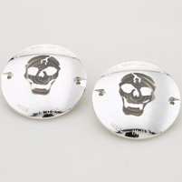 Motor City Cycle Flat Smoked Lenses with Skull Graphic for Front