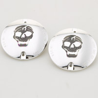 Motor City Cycle Flat Smoked Lenses with Skull Graphic for Rear