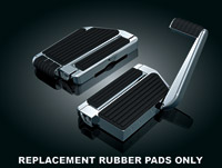 Kuryakyn Replacement Rubber Pads for Transformer II Passenger Floorboards
