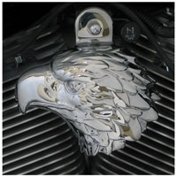 Chrome Dome Chrome American Eagle Horn Cover