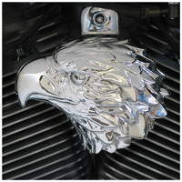 Chrome Dome Polished American Eagle Horn Cover