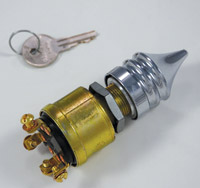 Thunder Cycle Ignition Switch with Dead End Key Cover