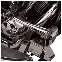 V-Twin Manufacturing Chrome Trumpet Horn Kit for Softail