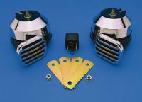 J&P Cycles® Universal Mount Twin Electric Horn Set